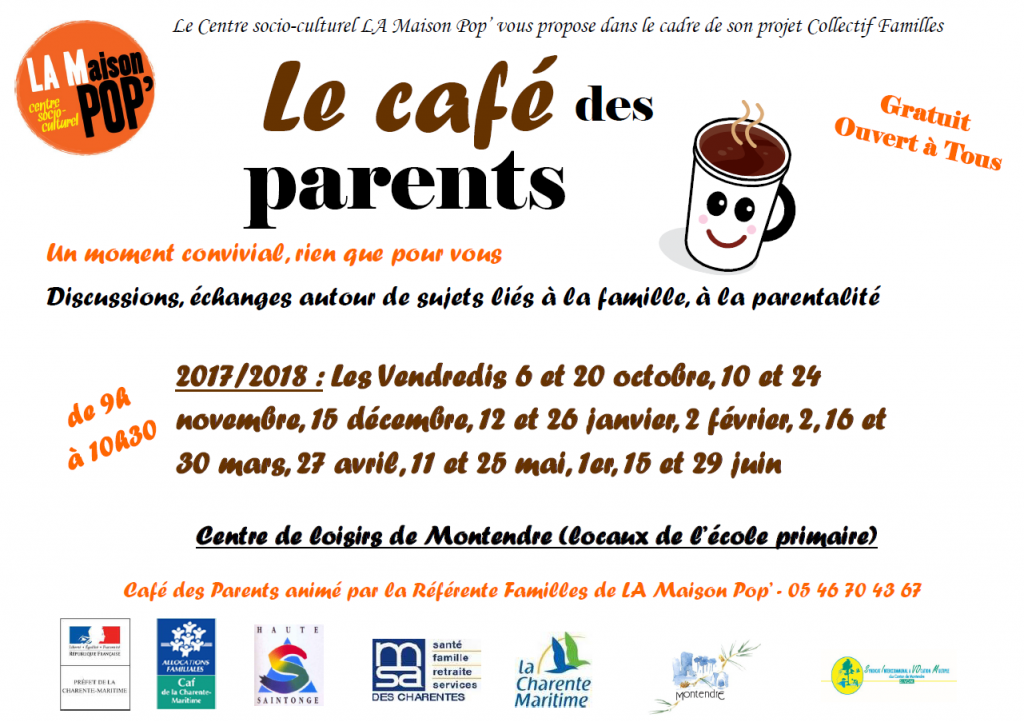café des parents - calendrier 2017-2018